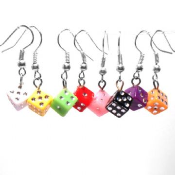 Dice Drop Earrings